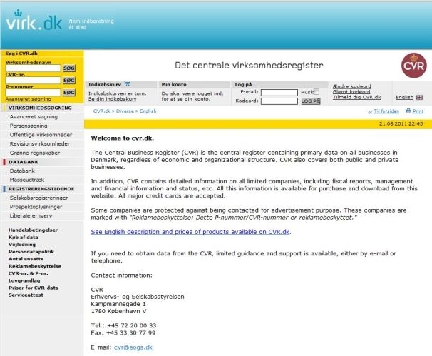 Hackers Post 1M Danish Government Business Records to Net