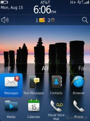 BlackBerry OS 7 Homescreen