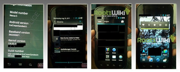 Leaked Android Ice Cream Sandwich OS Photos: Droid Green Turns Blue?