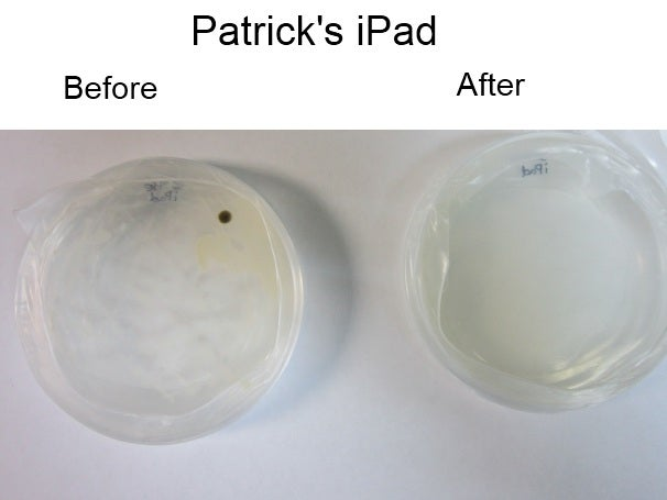 Patrick's iPad, before and after