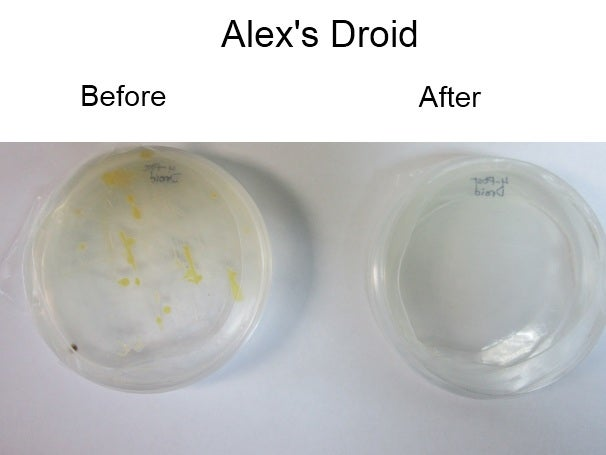 Alex's Droid, before and after