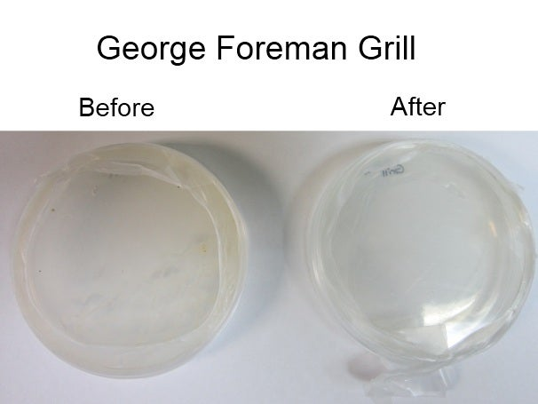 George Foreman Grill, before and after