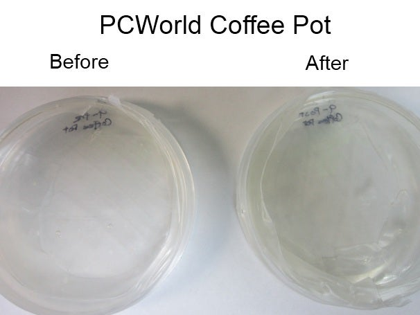PCWorld coffee pot, before and after