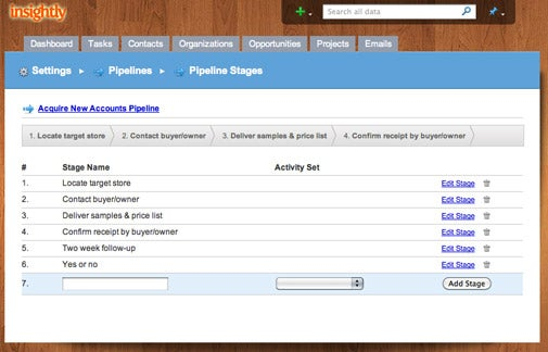 CRM programs: Insight.ly Pipelines