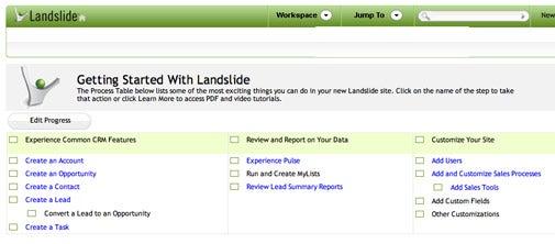 CRM programs: Landslide CRM