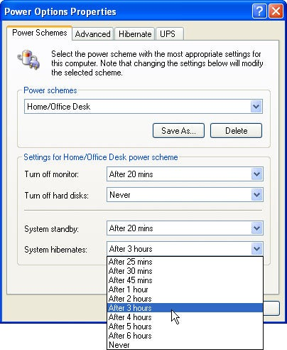 Best power option windows