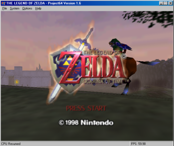 Project64 emulator: Zelda: Ocarina of Time