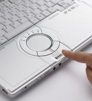 The Toughbook S10's trackpad