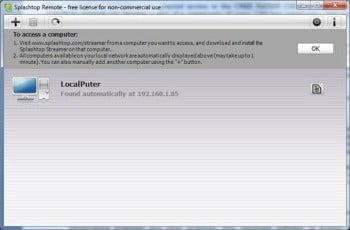 Splashtop Remote Desktop screenshot
