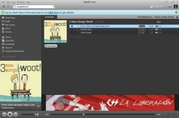 Windows desktop Spotify client screenshot