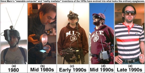 The development of Steve Mann's wearable computing devices