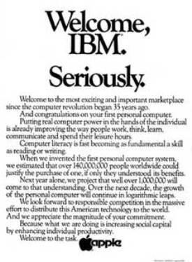 apple ad ibm pc
