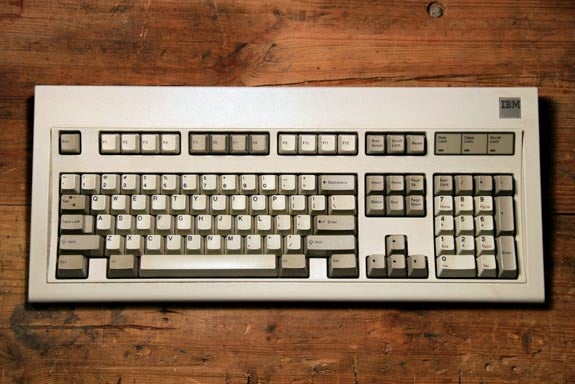 The classic IBM Model M keyboard.