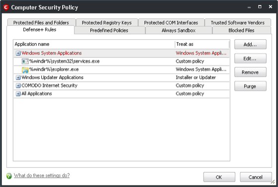 Comodo Internet Security (CIS) Computer Security Policy.