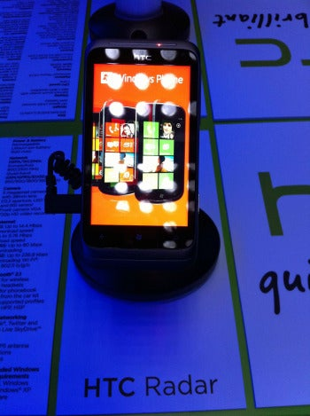 HTC Radar smartphone with Windows Phone 7 Mango OS