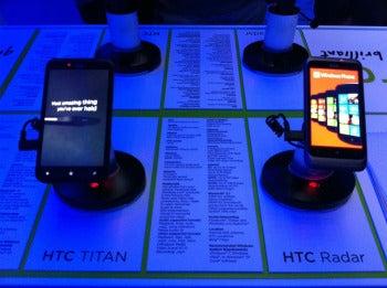 The HTC Titan and Radar