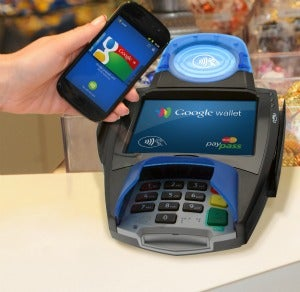 A Google Wallet - PayPass reader transaction.