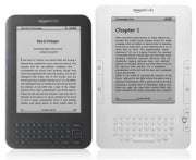 Two versions of the Kindle.