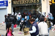 Scene from the 2011 London riots