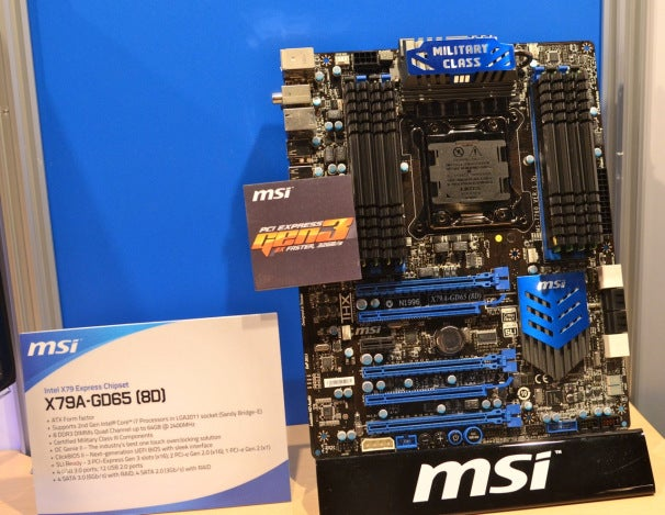MSI will be offering a broad line of X79 boards for gaming and performance enthusiasts.