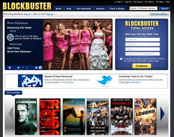 Blockbuster Plans September Surprise for Netflix