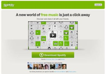 Spotify Music Service Opens to All; Gains Facebook Streaming
