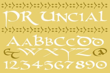 PR Uncial font screenshot