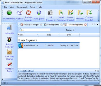 Revo Uninstaller Pro screenshot