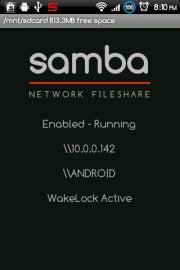 Samba file sharing