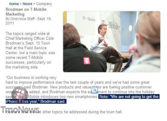 Screenshot of OneVoice Newsletter, Courtesy of TmoNews