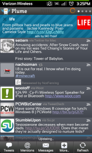 Plume for Twitter Android app