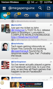 Tweetcaster Android app
