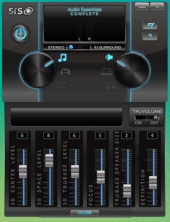 SRS Audio Essentials screenshot