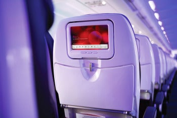 Virgin America's Techie In-Flight Entertainment System