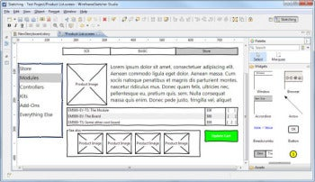 WireframeSketcher screenshot