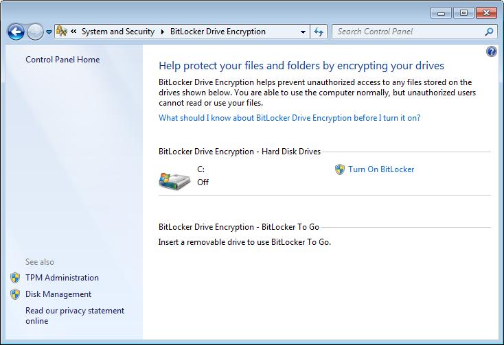 o que e bit locker  for windows 7