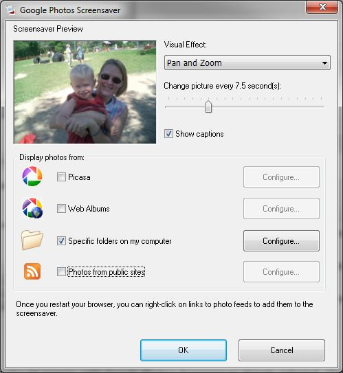 Add a Photo Screensaver to Windows with Google Picasa ...
