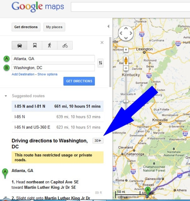 Cool New Google Maps Feature Lets You Helicopter Preview Routes – Google Map Travel Directions