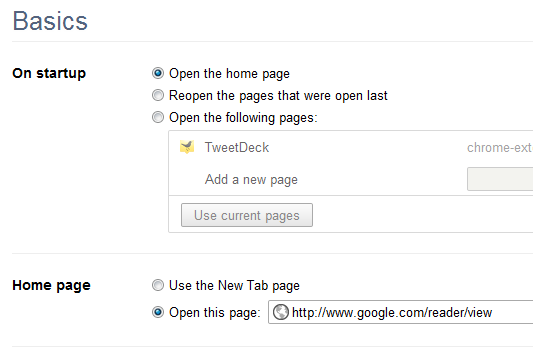 Change Your Google Chrome Home Page