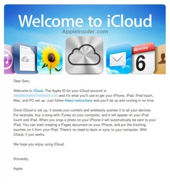 how to create an icloud email on pc