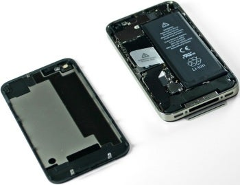 Apple iPhone 4S with top removed