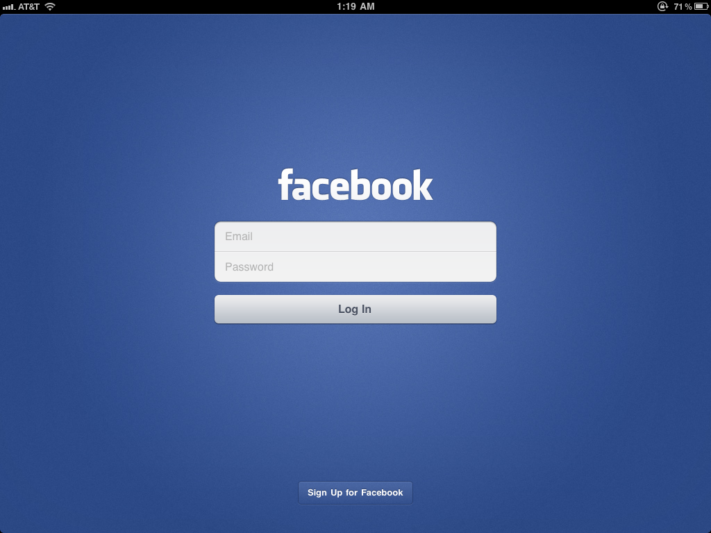 hands on with facebook 39 s new ipad app pcworld. Black Bedroom Furniture Sets. Home Design Ideas