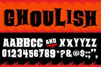 Ghoulish font screenshot