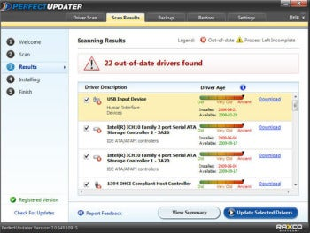 Raxco Software PerfectUpdater screenshot