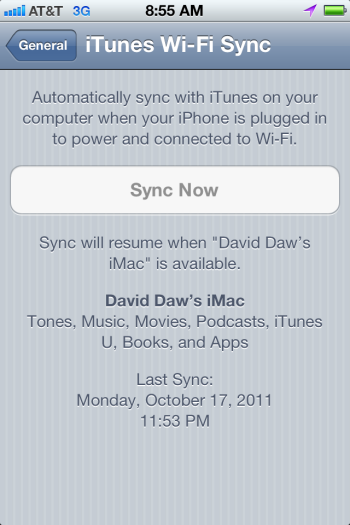 How to force a wireless sync in iTunes