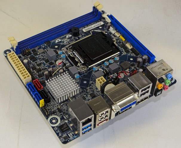 Intel's DH67CF is a tiny board capable of supporting Sandy Bridge CPUs.