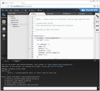 Cloud9 IDE screenshot