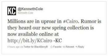 Kenneth Cole Twitter PR Disaster