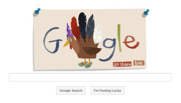 Google's Turkey Day Doodle