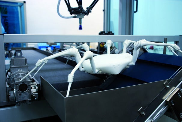 Giant Synthetic Spider Has Elastic Joints That Help It Move; Credit: Fraunhofer
